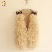 Wholesale Tibetan Mongolian Soft Hair Real Fur Lamb Vest