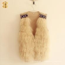 Оптовые тибетские монгольские мягкие волосы Real Fur Lamb Vest