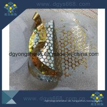 Goldfarbe Honeycomb Tamper Evident Aufkleber