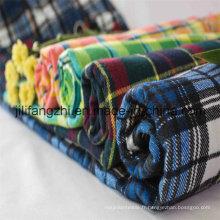 Tissu de flanelle imprimé et teint en flanelle de coton / Tc / CVC d'usine de la Chine