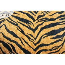 Tiger Printed Microfiber Chenille Fabric (fth31892)