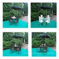 Обеденный стол из ротанга и стулья для сада