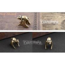 Messing-Kupfer-Clip auf Manschette Ohrringe