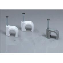 Runde Stahl Nagel Kunststoff Kabel Clip
