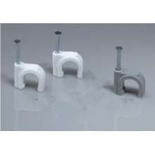 Round Steel Nail Plastic Cable Clip