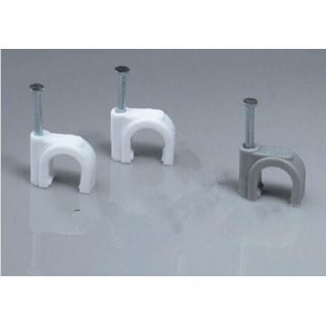Clip de cable de plástico redondo de uñas de acero