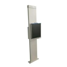 Soporte de bucky vertical para bucky aplicable al casete DR CR y disponible en versión fija o móvil con control inalámbrico