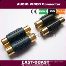Female to Female Gold RCA Coupler Joiner Adapter
