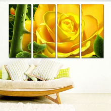 Impresión a todo color de la lona de la impresión / impresiones de las ilustraciones de la flor en el arte de la lona /