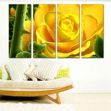 Impression pleine couleur Canvas / Flower Pictures Prints on Canvas Art / Rose jaune Flora Canvas Print