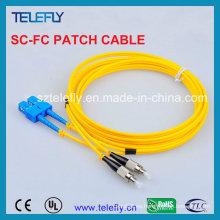Cable de fibra óptica SC-FC de un solo modo