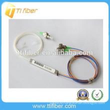 Steel tube type SC APC 1x2 PLC optical fiber splitter