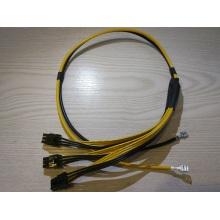 Trzy kable 6-pinowe dla szablonu Bitcoin