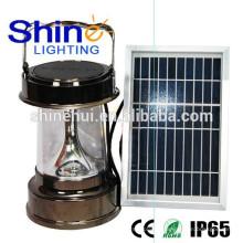 Lanterna conduzida inflável solar da qualidade magnífica, lanterna conduzida que acampa com carregador do telefone de pilha