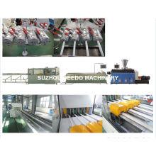 Máquina de produção e extrusão de tubo de PVC com quatro condutas