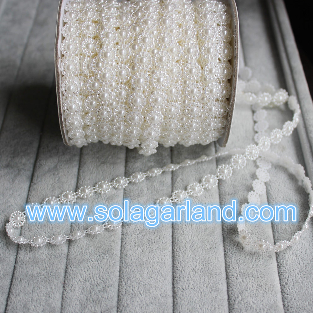 Sunflower Pearl Bead Chain Ribbon
