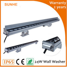 Dongguan lowest price size customized washer 24w IP65 exterior LED wall washer light for project