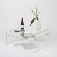 Acrylic Coffee Table with Shelf, Perspex TV Stand