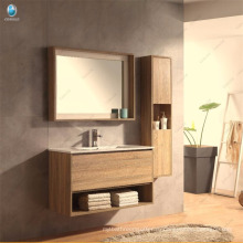 Итальянский Стиль Деревянная Мебель Ванной Комнаты Переклейки Изготовленный На Заказ Размер Раковины Ванной Комнаты Зеркало