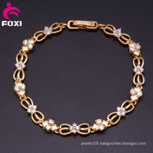 Wholesale Fashion Changeable Color Stone Charm Plating Gold Starfish Bracelets