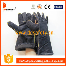 Black Cow Split Leather Welding Glove-Dlw623