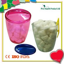 Medical Sterilize Cotton Ball with Plastic Dispenser