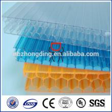 feuille de polycarbonate en nid d'abeille bloquant / feuille de polycarbonate cellulaire