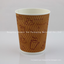 Disposable Coffee Beverage Drinking Paper Cup
