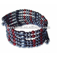 """Magnetic Red Agate Beaded Wrap Bracelets & Collier 36 """""""