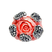Accesorio DIY de la joyería del grano coralino de la forma de la flor de la manera DIY 25 * 25m m