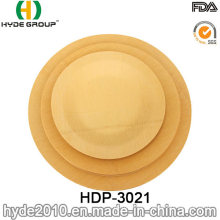 Biodegradable Eco-Friendly Disposable Bamboo Round Plate (HDP-3021)