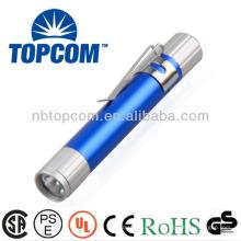 Aluminium Multicolor Mini LED Licht Stift mit Clip TP-P721A