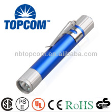 Aluminum multicolor mini led light pen with clip TP-P721A