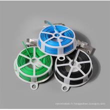 Attaches torsadées en plastique PVC 50M avec cutter