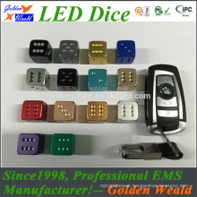 Colorful 12mm standard acrylic dice factory