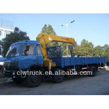 Dongfeng buena calidad 3 alxes 5 toneladas grúa de camiones