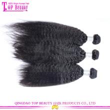 Завод прямые продажи Циндао верхнего качества выдвижение человеческих волос девственница монгольский странный прямые волосы