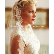 Europa y los Estados Unidos los nuevos accesorios nupciales del velo de novia de la moda deben velar velo de novia de encaje