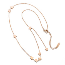 5 Star Titanium Necklace double Layers necklace for Women