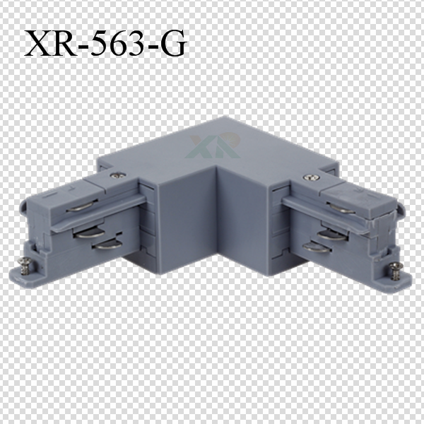 3 Circuit Track T connector in gray