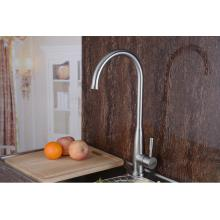 Single Handle Goose Neck Stainelss Steel Kitchen Faucet Kitchen (HS15007)