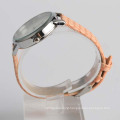 Ladies leather wristband watch diamond, stainless steel case back watch alloy
