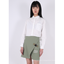 LADIES POPLIN WHITE BLOUSE