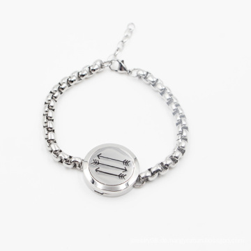 Neueste Design Heißer Verkauf 316L Edelstahl Öl Diffusor Medaillon Armband