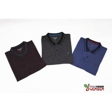 Jacquard-Stoff mit Jacquard-Kragen-Herrenhemd