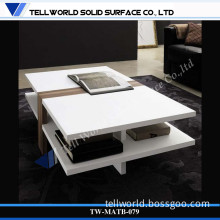 Artificial Stone White Gloss Tea Table End Table