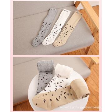 Collants de algodão moda leopardo para menina