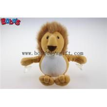 China Supplier Sucção Personalizada Leão Brinquedos Plush Stuffed Leão Animais com copos de sucção plástica Bos1140