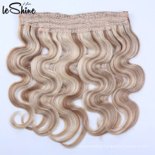 Wholesale High Quality Invisible Fish Wire Soft Halo Hair 12''-28'' Weft