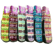 Snowflake Knitted Indoor Floor Shoes Socks Anti-Slip